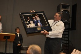 Don receiving his plaque for his devoted service to the BASS Nation!
