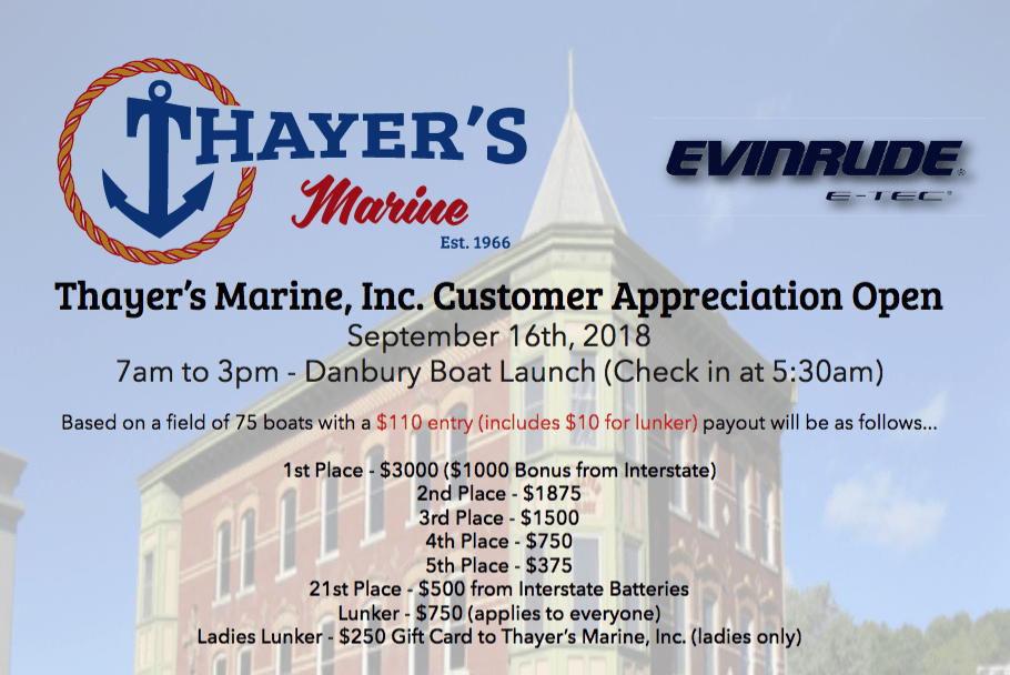 Thayer's Marine, Inc. Open – 2018