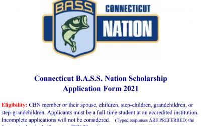 Connecticut B.A.S.S. Nation Scholarship App 2021
